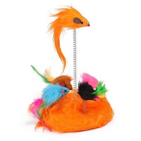 Игрушка для кошек Nobby Мышки на пружинке 5шт 80032