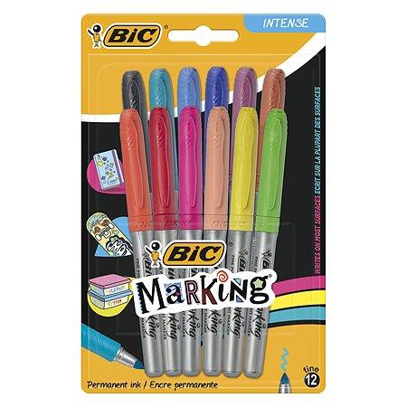 Маркер перманентный BIC 12цветов 12шт 943163