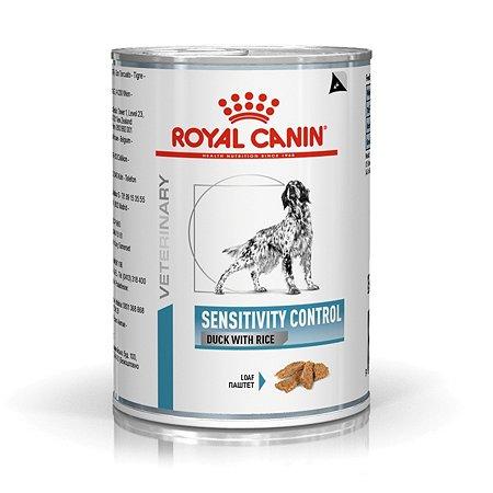 Корм для собак ROYAL CANIN Sensitivity Control при пищевой аллергии или непереносимости c уткой и рисом консервированный 420г