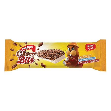 Батончик Poppins Choco Bits злаковый с белым шоколадом 25г с 3лет