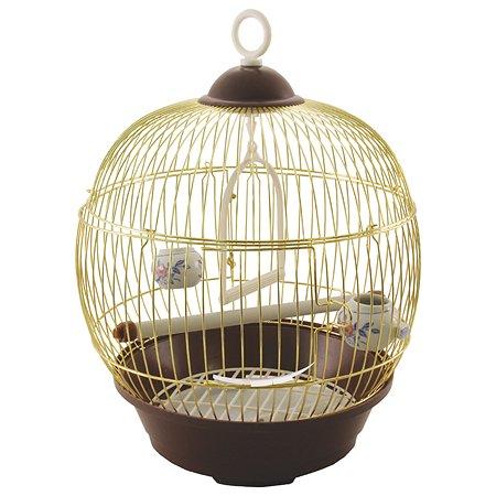 Клетка для птиц Triol 23BG круглая Золото