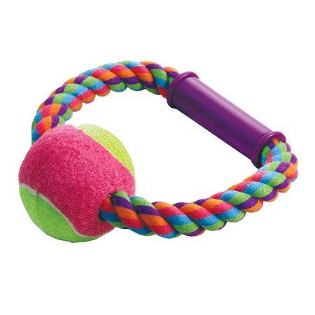 Игрушка для собак Triol Веревка-кольцо с ручкой и мячом 12111027