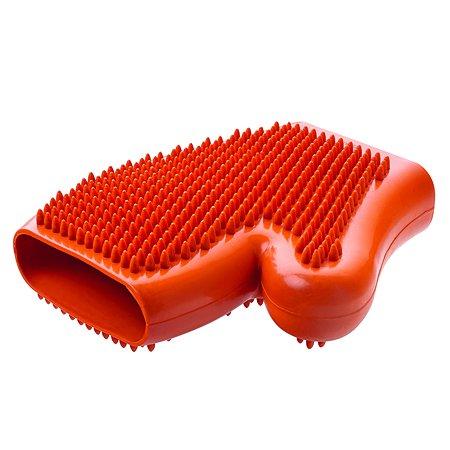 Перчатка грумерская Hunter Smart для вычесывания шерсти Оранжевая