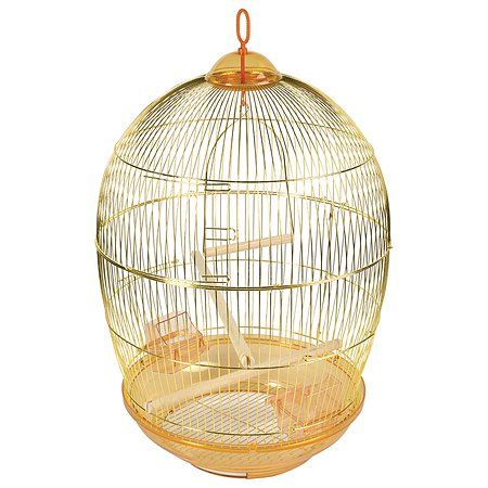 Клетка для птиц Triol 480G круглая Золото