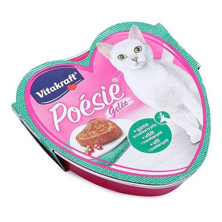 Корм влажный для кошек Vitakraft Poesie 85г дичь-клюква взрослых