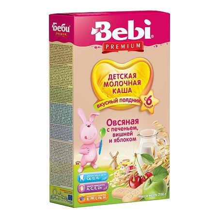 Каша молочная Bebi Premium Premium печенье c вишней и яблоком 200г с 6месяцев