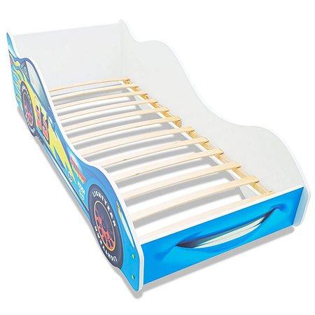 Кровать-машина Бельмарко Тачка Синяя