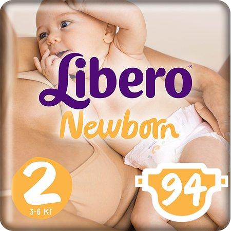 Подгузники Libero Newborn 2 3-6кг 94шт