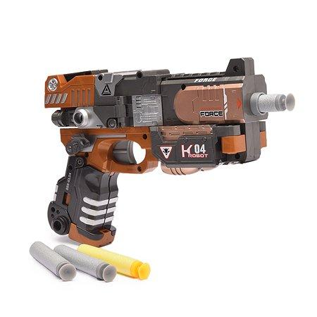 Пистолет-робот 2 в 1 Devik Toys Crusher с 6  мягкими патронами