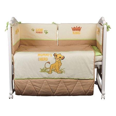 Комплект в кроватку Polini kids Disney baby Король Лев 5 предметов Макиато