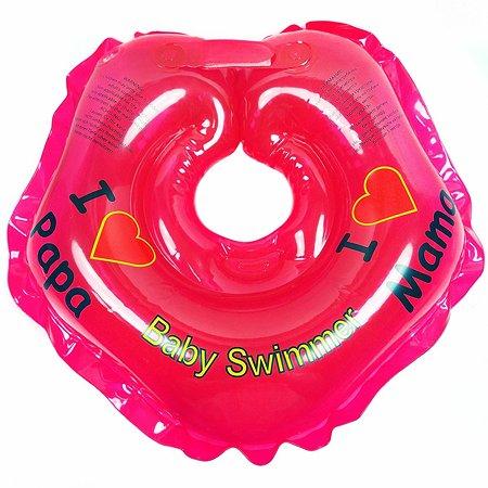 Круг для купания BabySwimmer на шею 0-24месяца Красный BS21R