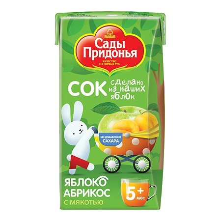 Сок Сады Придонья яблоко-абрикос 0.125л с 5месяцев