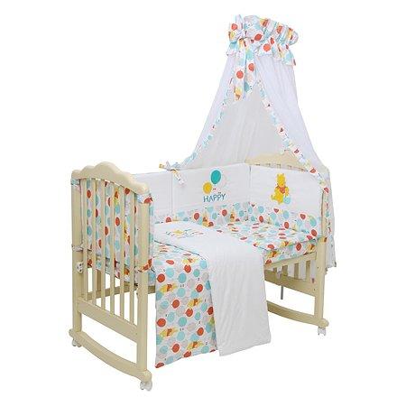 Комплект в кроватку Polini kids Disney baby Медвежонок Винни Чудесный день 7предметов Желтый