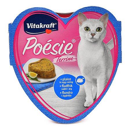 Корм влажный для кошек Vitakraft Poesie 85г Террин камбала в яйце взрослых