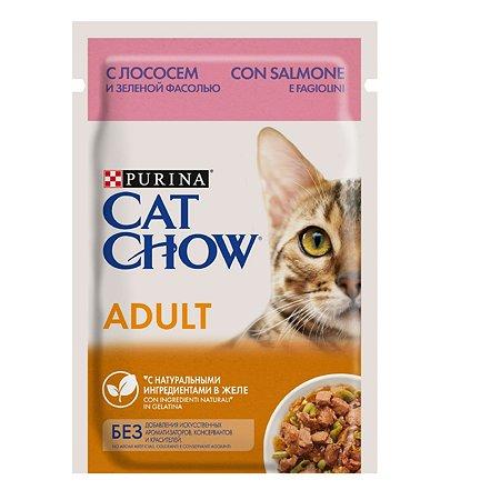Корм влажный для кошек Cat Chow 85г с лососем и зеленым горошком пауч