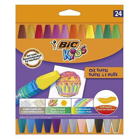 Мелки цветные BIC Кидз Оил Пастель 24цвета 926447