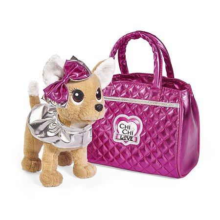 Игрушка мягкая Chi Chi Love Собачка Гламур с розовой сумочкой и бантом 5893125