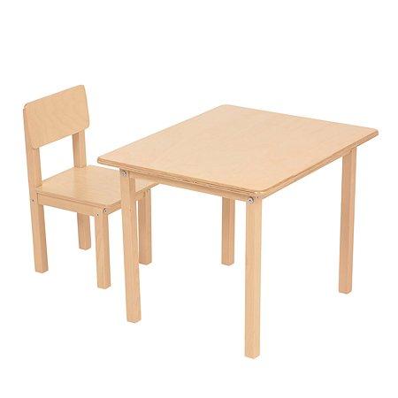 Набор мебели Polini kids Simple 105S Натуральный