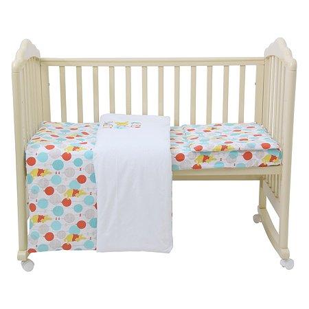 Комплект постельного белья Polini kids Disney baby Медвежонок Винни Чудесный день 3предмета Желтый