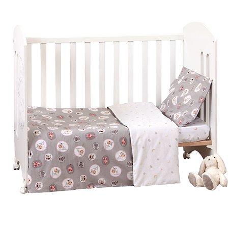 Комплект постельного белья MIRAROSSI Ninna Nanna Amici Grey