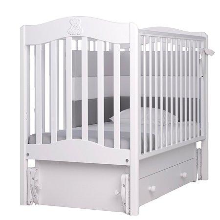 Кровать Гандылян Ванечка с маятником Белая