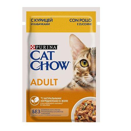 Корм влажный для кошек Cat Chow 85г с курицей и кабачком пауч