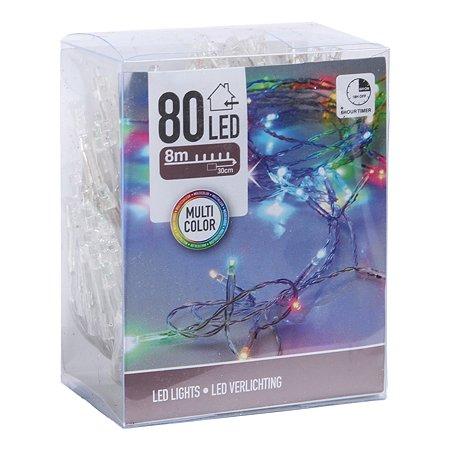Гирлянда электрическая KOOPMAN 80 LED ламп с таймером Мультиколор AXS300283