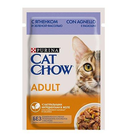 Корм влажный для кошек Cat Chow 85г с ягненком и зеленым горошком пауч
