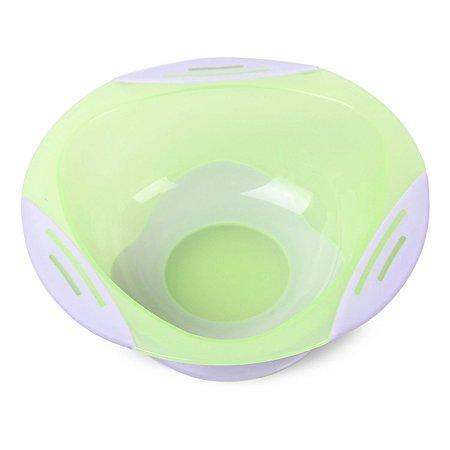 Тарелка Baby Go на присоске Green D1-0200