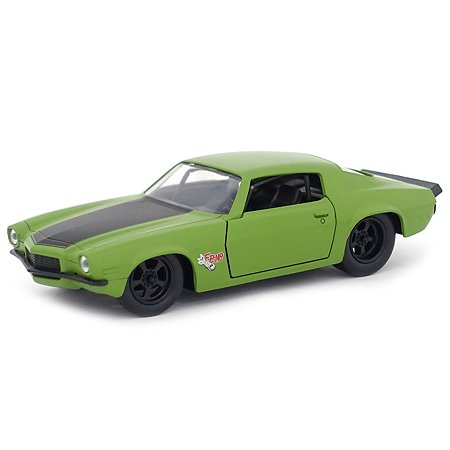 Машинка Fast and Furious Jada 1:32 1973 Chevy Camaro-Free Rolling Зеленая 99521