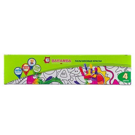 Краски пальчиковые Baramba 4шт(40мл)