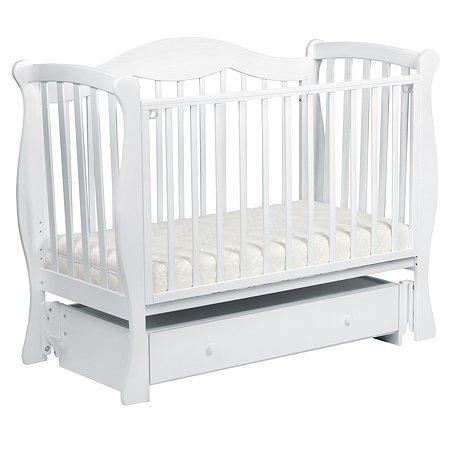 Кровать ЛЕЛЬ Мишель с маятником Белый