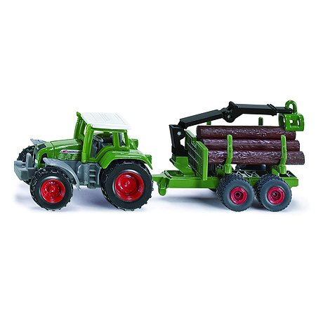 Трактор SIKU прицепом для бревен