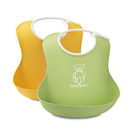 Комплект из 2-х нагрудников BabyBjorn (зеленый и желтый)