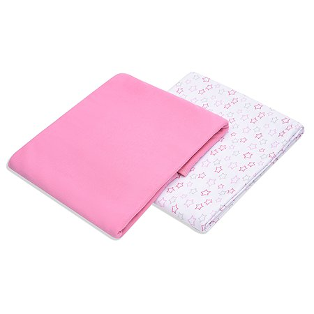 Комплект пеленок Pecorella Sweet pink 120*90 2шт