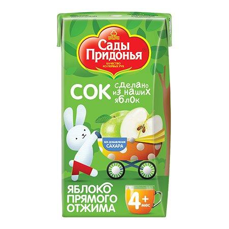 Сок Сады Придонья яблоко прямой отжим осветленный 0.125л