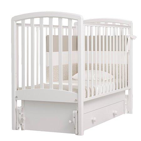Кровать Гандылян Дашенька с маятниом Белая