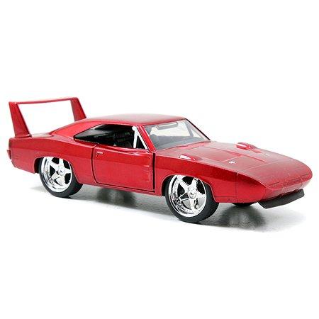 Машинка Fast and Furious Jada1:32 1969 Dodge Charger Daytona-Free Rolling Красная 97086