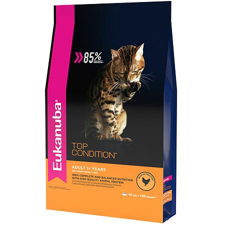 Корм сухой для кошек Eukanuba Cat 2кг с домашней птицей