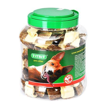 Лакомство для собак TITBIT Бантики из кожи и желудка говяжьих гов туба 4.3 л