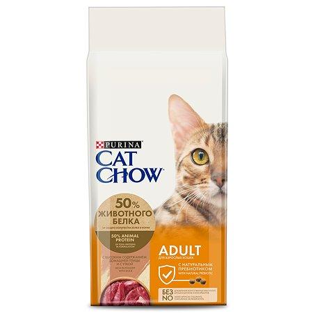 Корм сухой для кошек Cat Chow 15кг с уткой