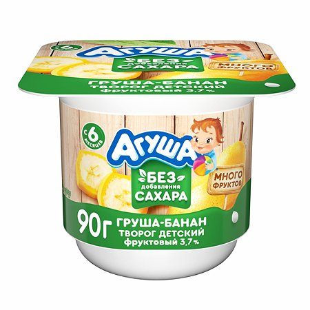 Творог Агуша груша-банан 3.7% 90г с 6месяцев