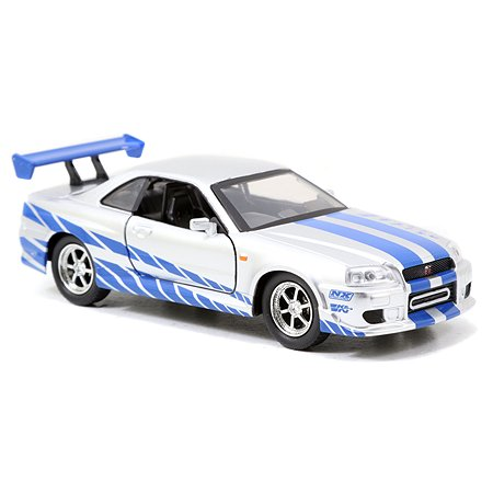 Машинка Fast and Furious Jada 1:32 2002 Nissan Skyline Gtr R34-Silver-Free Rolling 97184