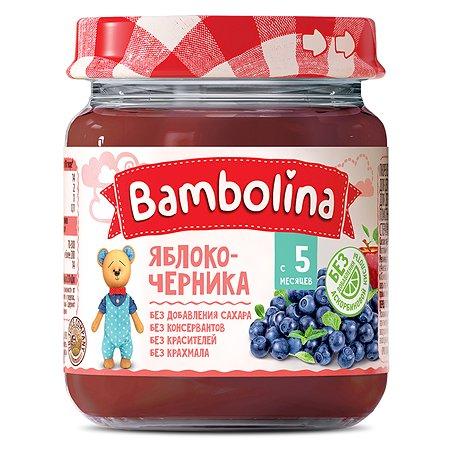Пюре Bambolina яблоко-черника 100г с 5месяцев