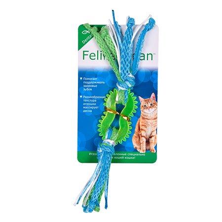 Игрушка для кошек AROMADOG Feline Clean Dental Колечко-прорезыватель с лентами WB23540