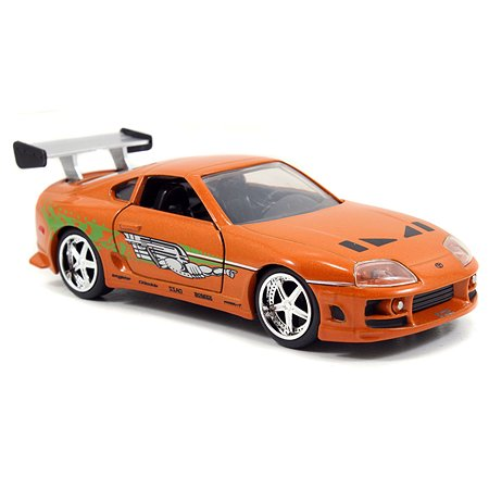 Машинка Fast and Furious Jada 1:32 1995 Toyota Supra Free Rolling Оранжевая 97345