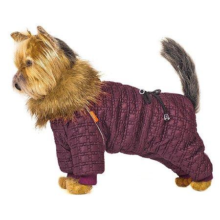 Комбинезон для собак Happy Puppy Зимняя вишня 3 Бордовый
