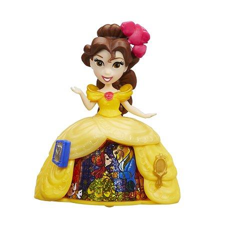 Мини-кукла Princess Hasbro в платье с волшебной юбкой Бэлль B8964EU40