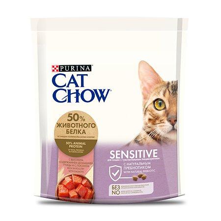 Корм сухой для кошек Cat Chow Sens 400г с лососем при чувствительной пищеварительной системе