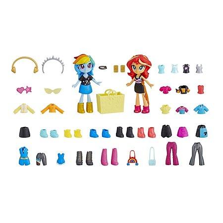 Набор игровой MLP Equestria Girls Мини-кукла Лучшие друзья Радуга Дэш и Сансет E4244EU4